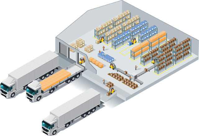 Advanced warehouse management and storage technology